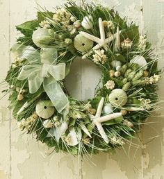 Seaside Wreath - this would  be beautiful for a wedding, as well.
