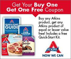FREE Atkins Quick-Start Kit + BOGO Coupon! | FreeCoupons.com