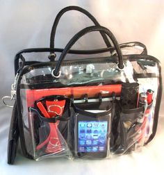 "Charlie Clear Handbag Purse Tote Travel Bag Organizer Insert Dimensions: L 10"" x H 8"" x W 4"" $17.99"