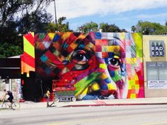 A mural by Eduardo Kobra from Sao Paulo, Brazil, who is one of the artists participating in this year's PRHBTN festival, Nov. 15-17 at Buster's Billiards and Backroom. Korba is painting a mural of Abraham Lincoln on the back of the Kentucky Theatre, facing Vine Street in Lexington, Ky