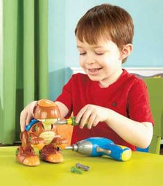 Build your own Take-Apart Dinosaur using the included battery-operated drill and other tools. Kids will have fun taking this 29-pc. dino toy apart and putting i