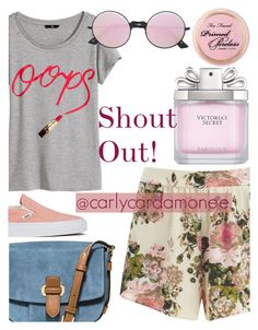 """""""@carlycardamonee"""" by elliewriter ❤ liked on Polyvore featuring VILA, H&M, MICHAEL Michael Kors, Vans, Le Specs, Victoria's Secret and shoutouttime"""
