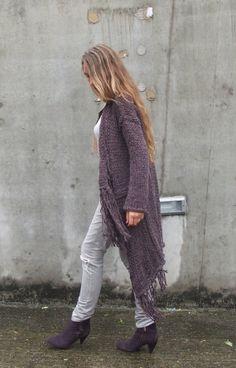 BOHO Fringe sweater coat