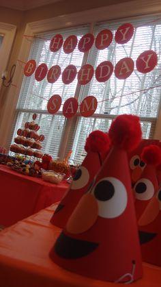 Sam's first Birthday party. Elmo style!