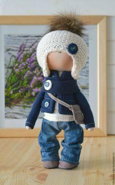 Купить или заказать Интерьерная текстильная кукла (мальчик) в интернет-магазине на Ярмарке Мастеров. Кукла полностью текстильная. Сам сидит и стоит. Одежда не снимается. Кукла может стать идеальным подарком для Ваших любимых. Доставка включена в стоимость.