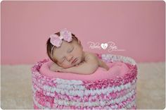 Petite Light Pink bow headband newborn by DanicasChicBowtique, $7.00