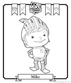 coloring page Mike the Knight on Kids-n-Fun. Coloring pages of Mike the Knight, a 10 year old knight in training At Kids-n-Fun you will always find the nicest coloring pages first! Nick Jr Coloring Pages, Cool Coloring Pages, Free Printable Coloring Pages, Templates Printable Free, Coloring Sheets, Coloring Books, Free Printables, 3rd Birthday Parties, Boy Birthday