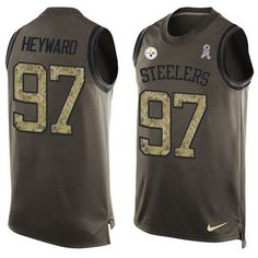 Nike Steelers #97 #Cameron #Heyward Green Men's Stitched #NFL Limited Salute To Service Tank Top #Jersey