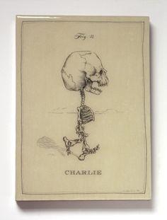 Artwork by Michael Paulus...**love**  Charlie Brown Skeleton Panel by mpaulus on Etsy, $57.00