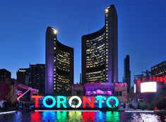 Multi-coloured Toronto sign staying put after Pan Am https://www.tourbytransit.com/toronto/things-to-do/cityhall