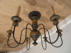 Primitive Flush Mount Chandelier Country Lighting Ceiling Light Fixture