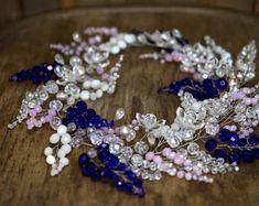 Wedding Wreaths Accessories Bridal Headband crystal Swarovski wedding headband Bridal tiara crown First communion headpiece wedding
