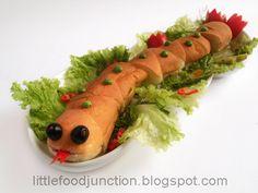 Reptile party food idea