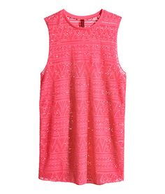 Welcome to H&M, your shopping destination for fashion online. Shop the latest trends and discover our high quality clothing at the best price. Red Tank Tops, Knitted Tank Top, Lace Tank, Moda Online, Lace Knitting, Fashion Online, Kids Fashion, My Style, Tanks
