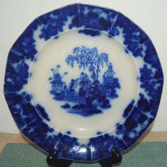 Wood /& Sons England 9 1//8-inch Soup Bowl Flow Blue w// Gold Accents Madras