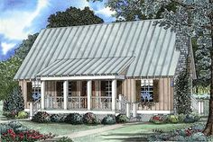 Cabin Country Southern House Plan 62115