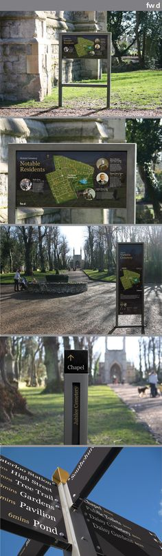 Lily sign system for cemeteries by fwdesign.   http://www.fwdsignsolutions.com/