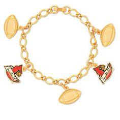 Louisville Cardinals 5 Charm Bracelet $14.99 http://www.fansedge.com/Louisville-Cardinals-5-Charm-Bracelet-_-1762054100_PD.html?social=pinterest_pfid23-55215
