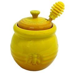 Le Creuset - Honey Pot & Dipper - Dijon