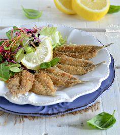 Alici impanate senza friggere Italian Recipes, Vegan Recipes, Vegan Junk Food, Vegan Sushi, Romanian Food, Vegan Smoothies, Appetisers, Antipasto, Seafood