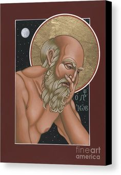 Holy Prophet Job Canvas Print featuring the painting Holy Prophet Job 264 by William Hart McNichols