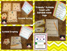 Summer Literacy Folders and Syllable Counting