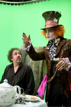 New Pix (BTS - tim burton and johnny depp on the set of alice in wonderlands) has been published on Tremendous Pix