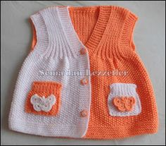 Bütünden örme süslü Bebek yeleği We are with you with the sought-after baby knitting models. Knit Baby Dress, Baby Cardigan, Gilet Crochet, Crochet Baby, Knitted Baby, Baby Sweaters, Girls Sweaters, Baby Knitting Patterns, Baby Patterns