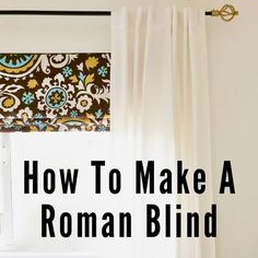 One Room Challenge: Sewing Studio on a Budget Roman Curtains, Roman Blinds, Window Coverings, Window Treatments, How To Make A Roman Blind, Roman Shade Tutorial, Diy Roman Shades, Blinds For You, Diy Blinds