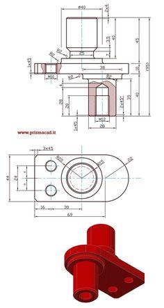 Mechatronics Engineering, Mechanical Engineering Design, Mechanical Design, Learn Autocad, 3d Autocad, Autocad 3d Modeling, Isometric Drawing Exercises, Autocad Training, Orthographic Drawing