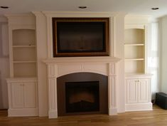 10 Refreshing Cool Tricks: Fireplace Built Ins With Tv Mounted Tv electric fireplace remodel.Fireplace With Tv Storage. fireplace ideas with tv built ins Brilliant Faux Fireplace Classroom Ideas Fireplace Feature Wall, Tv Over Fireplace, Family Room Fireplace, Fireplace Built Ins, Shiplap Fireplace, Farmhouse Fireplace, Home Fireplace, Fireplace Remodel, Fireplace Surrounds