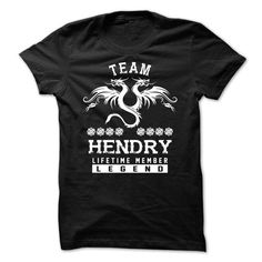 TEAM HENDRY LIFETIME MEMBER - #hostess gift #husband gift. ORDER NOW => https://www.sunfrog.com/Names/TEAM-HENDRY-LIFETIME-MEMBER-fwbqxqwtih.html?68278