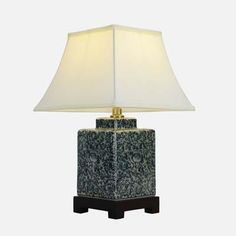 Pair of Swirling Tea Caddy Lamp