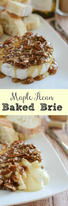 Maple Pecan Baked Brie - try with toasted gf bread -- an easy and impressive appetizer recipe!