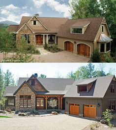 Plan 5011, The Solstice Springs, is our plan of the week. Of these two exterior finishes, which do you prefer. Let us know in the comments! http://www.dongardner.com/plan_details.aspx?pid=3361. #Exterior #Photo #Comparison