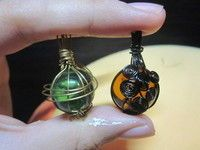Wire Wrapped Marble! yes! now to find that pin of making crackled marbles in the oven ......