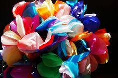 tissue paper flowers rainbow