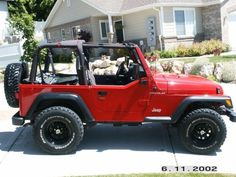 01 jeep wrangler red | Jeep Wrangler red / black - 2000 - Picture 02FKB311186660A
