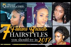 7 Fulani braids Hairstyles you should try in 2017   http://www.http://theblessedqueens.com