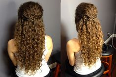 Half Up Half Down Updo For Naturally Curly Hair: Easy Braided Hairstyle!MADSCustomHairDesign