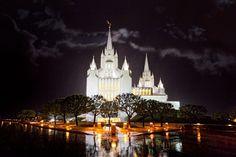 San Diego Temple Rain Reflection | Robert A. Boyd Fine Art