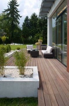 love this patio by Designers Pawel Sokol and Hanka Bajer from Exit Interior Design Studio