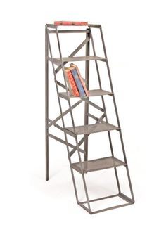 Factory Ladder Shelving Unit in Iron