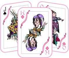 Alice in Wonderland Mad Hatter tea party tent table cards party decoration set of 8 silk ribbons