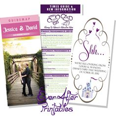 Cute.  Not sure if all that information would be necessary.  And don't like the Shhh insert, but I kind of like this idea as a program.  I'm looking for little Disney touches, not a wedding that screams Disney.