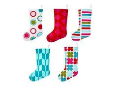 DIY felt stockings in 6 different patterns from #HGTVMagazine // http://www.hgtv.com/design/make-and-celebrate/holidays/diy-felt-stockings?soc=pinterest