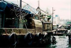 Old Chinese junk in Aberdeen Harbour, Hong Kong