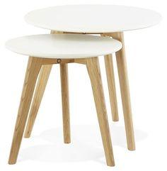 Avec leur piètement en chêne massif huilé et leur plateau en bois mat, ces tables gigognes sauront vous apporter confort et beauté dan votre intérieur. http://techneb.com/shop/fr/tables-basses/3761-Tables-basses-design-gigognes-ART-en-bois-et-chene-massif-blanc.html #intérieur #table #gigogne #scandinave #techneb #meuble
