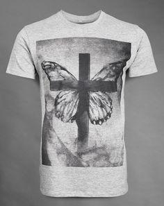 Chrysalis Rising  - Grey unisex semi-fitted t-shirt - Soft handle print - 100% super-soft ringspun cotton  £24.95   Buy now! http://www.deadmouseofficial.com/spring-summer-2013/unisex/chrysalis-rising.html