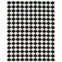Gerda rug black large from Brita Sweden